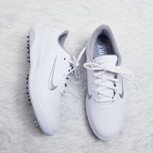 NWOT Nike Fitsole Golf Shoes White & Gray
